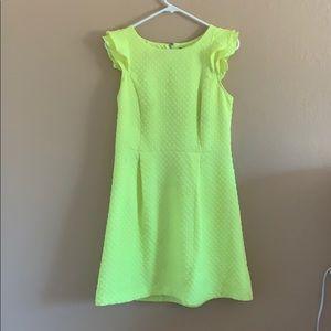 Kensie neon green mini dress